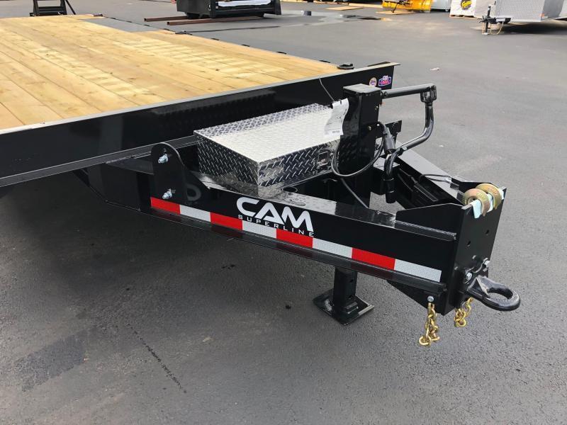 CAM 2020 7-TON 8.5' X 20'  DECKOVER EQUIPMENT TRAILER