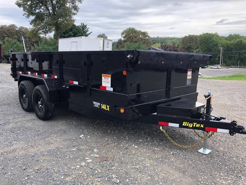 BIGTEX 2019 7' x 16'  14LX Heavy Duty Tandem Axle Extra Wide Dump