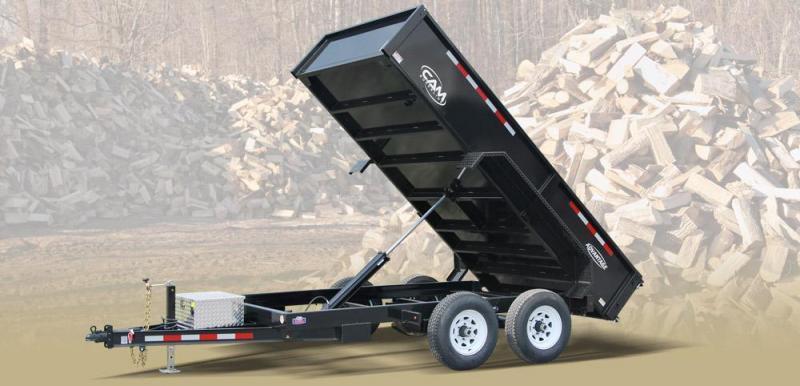 CAM 2017 6' x 10' LOW PROFILE DUMP TRAILER  10000 lb. GVW