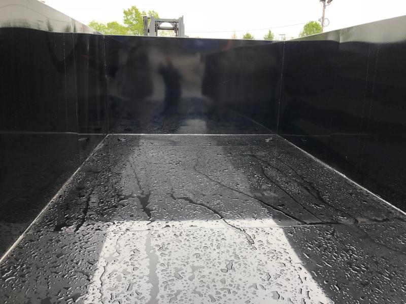 BRI-MAR 2018  7' X 14' BLACK LOW PROFILE DUMP TRAILER