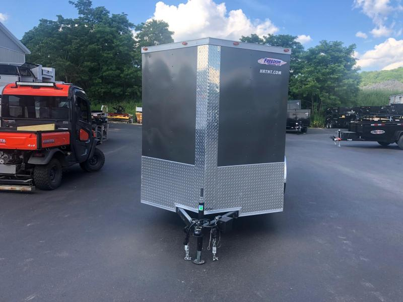 FREEDOM 2019 6X12 SINGLE AXLE CHARCOAL CARGO/ENCLOSED TRAILER