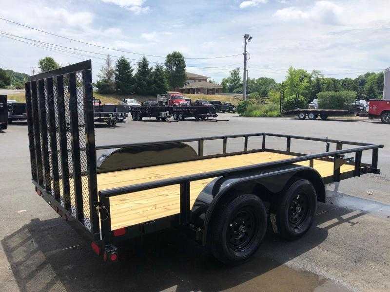 BIGTEX 2019 70PI 7' x 14' Tandem Axle Pipe Landscape Utility Trailer