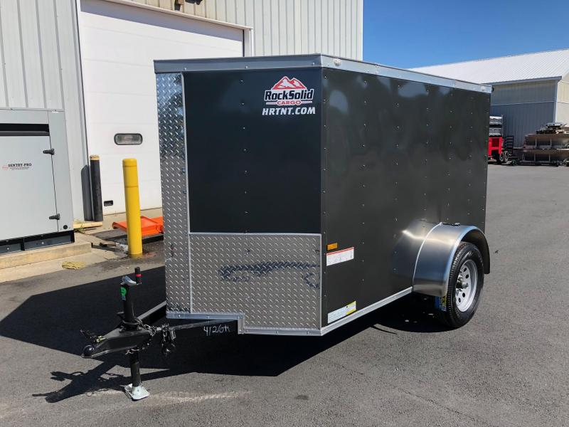 ROCK SOLID 2018 5' x 8' SINGLE AXLE GRAY ENCLOSED TRAILER