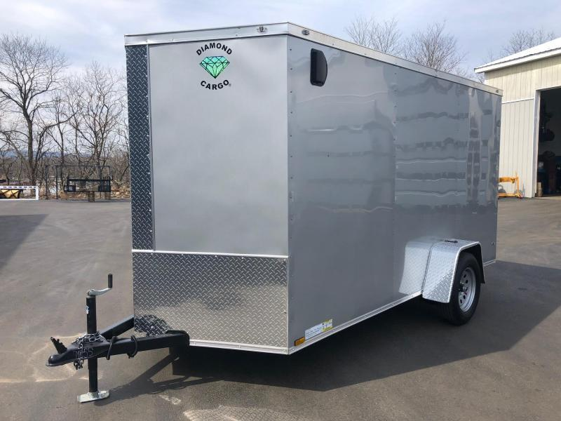 DIAMOND CARGO 2020 6' x 12' SINGLE AXLE SILVER FROST ENCLOSED TRAILER