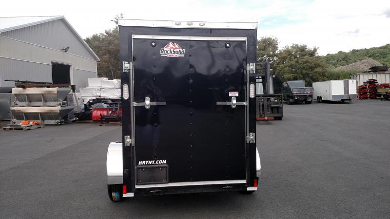 """ROCK SOLID 2019 5' x 8' SINGLE AXLE BLACK ENCLOSED TRAILER with 12"""" ADDITIONAL HEIGHT"""