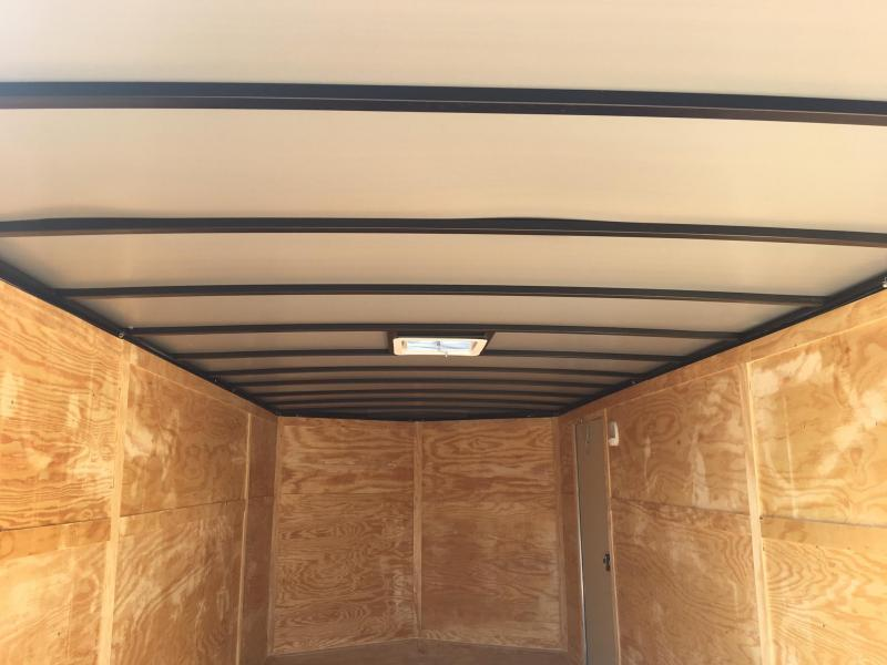 ROCK SOLID 8.5 x 20 Tandem Axle Silver Semi Screwless Enclosed V-NOSE Trailer