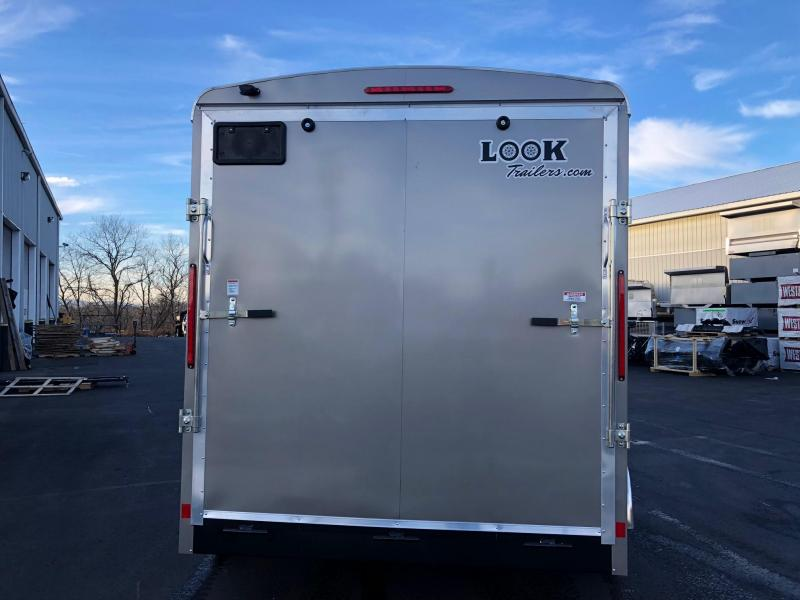 2019 Look 7x14' Vision Tandem Axle Pewter Enclosed Cargo Trailer