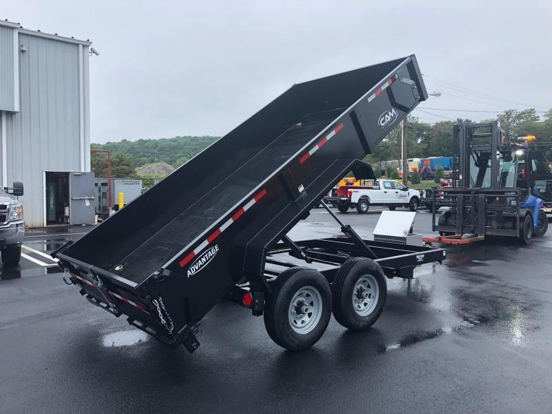 CAM ADVANTAGE 2019 6' x 14' LOW PROFILE HEAVY DUTY DUMP TRAILER