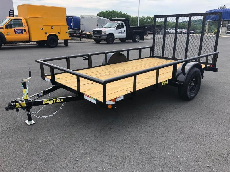 BIGTEX 2020 35SA 6.5' x 12' SINGLE AXLE LANDSCAPE / UTILITY TRAILER