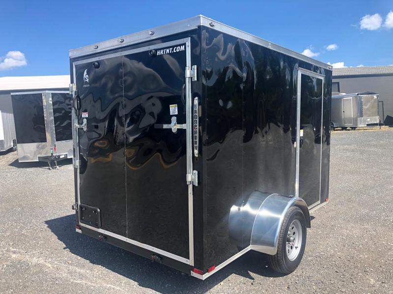 SPARTAN CARGO 2020  6X10 SINGLE AXLE BLACK SEMI SCREWLESS ENCLOSED TRAILER