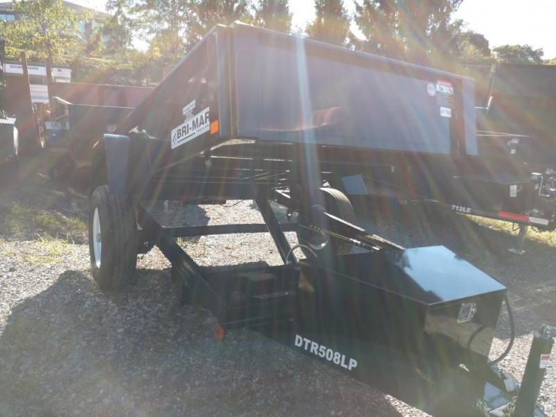 BRI-MAR 2018 5' x 8' BLACK LOW PROFILE DUMP TRAILER
