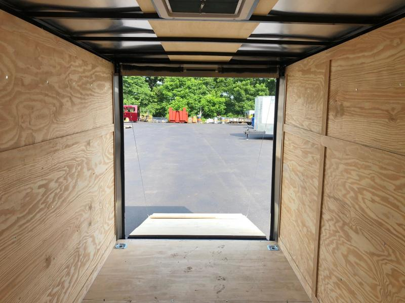 SPARTAN CARGO 2020 6X12 TANDEM AXLE CHARCOAL WITH BLACK TRIM SEMI SCREWLESS ENCLOSED TRAILER