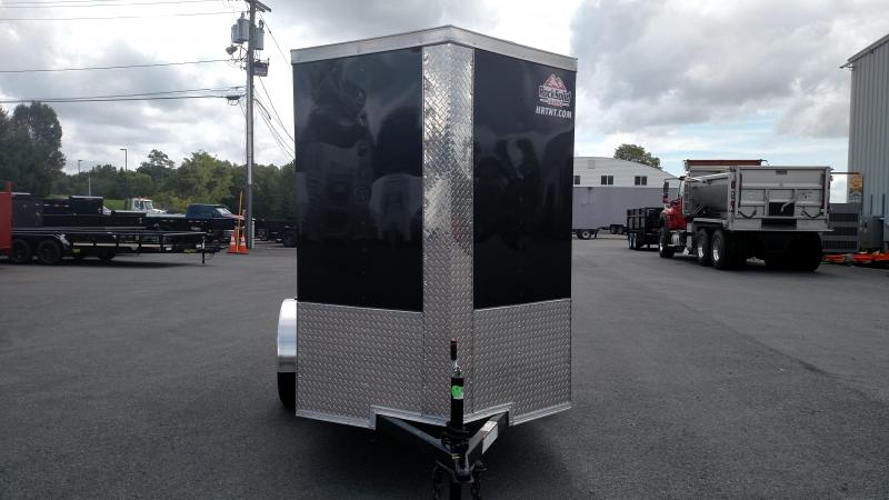 """ROCK SOLID 2018 5' x 8' SINGLE AXLE BLACK ENCLOSED TRAILER with 12"""" ADDITIONAL HEIGHT"""