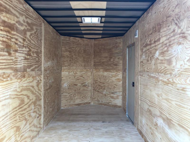 DIAMOND CARGO 2018 7 x 14 TANDEM AXLE SILVER FROST ENCLOSED TRAILER 8 FT INTERIOR HEIGHT