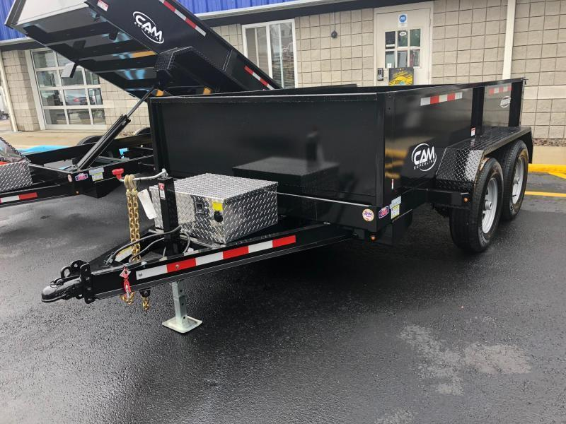CAMADVANTAGE 2019 6' x 10' LOW PROFILE DUMP TRAILER  10000 lb. GVW