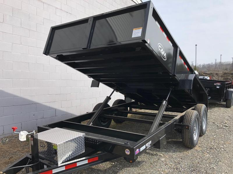 CAM ADVANTAGE 2019 6.8' x 14' LOW PROFILE HEAVY DUTY DUMP TRAILER