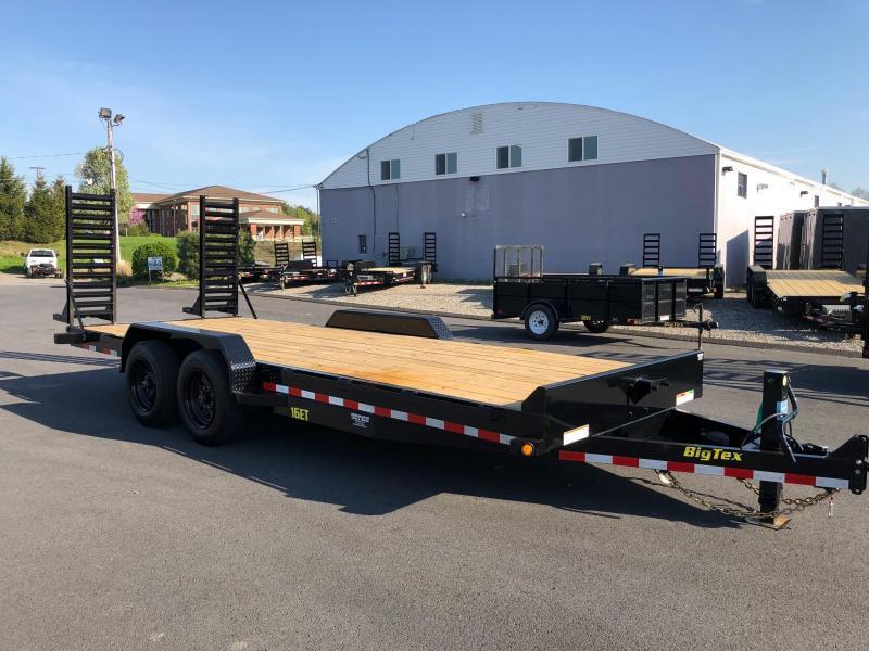 BIGTEX 2019 7' x 20' 16ET SUPER DUTY TANDEM AXLE EQUIPMENT TRAILER  17000 lb. GVW