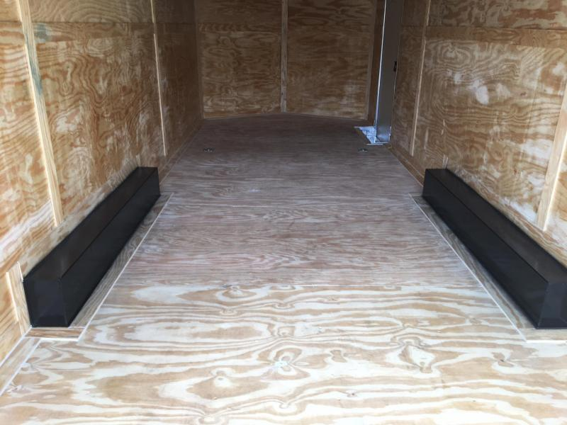 DIAMOND CARGO 2018 8.5' x 24' TANDEM AXLE CHARCOAL GREY ENCLOSED CARGO TRAILER