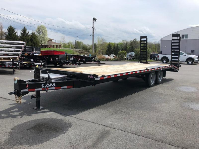 CAM 2018 8-TON HEAVY DUTY DECKOVER CONSTRUCTION TRAILER 8.5' x 24'