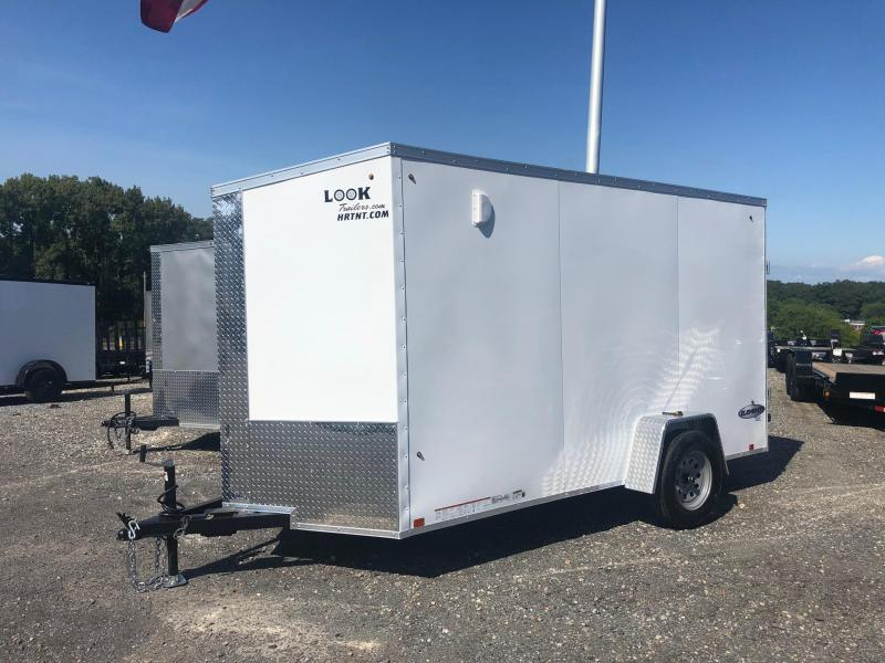 LOOK 2020 6 x 12' ELEMENT WHITE CARGO  ENCLOSED TRAILER