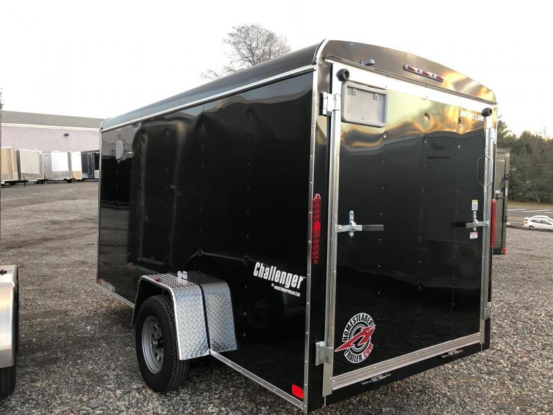 """HOMESTEADER 2019 6' x 12' BLACK CHALLENGER ENCLOSED TRAILER WITH 6"""" EXTRA HEIGHT"""