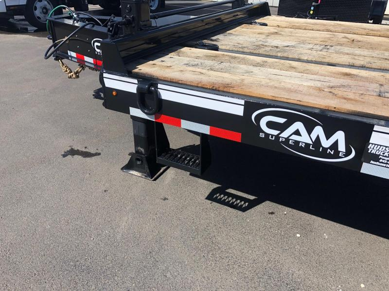CAM 2019 8.5' X 26+5' 25-TON HEAVY DUTY DECKOVER EQUIPMENT TRAILER