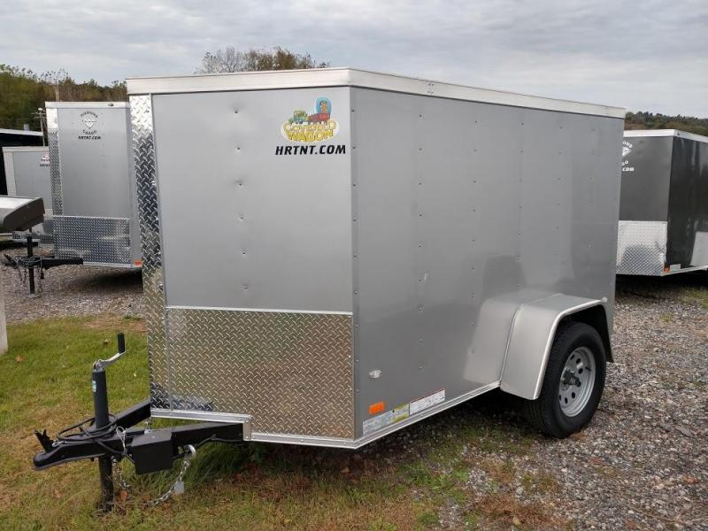 COVERED WAGON 2018 5X8 SINGLE AXLE SILVER ENCLOSED TRAILER