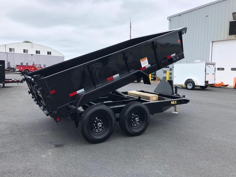 BIGTEX 2019 14LX-12 (7' x 12') BLACK HEAVY DUTY TANDEM EXTRA WIDE DUMP TRAILER WITH TARP KIT