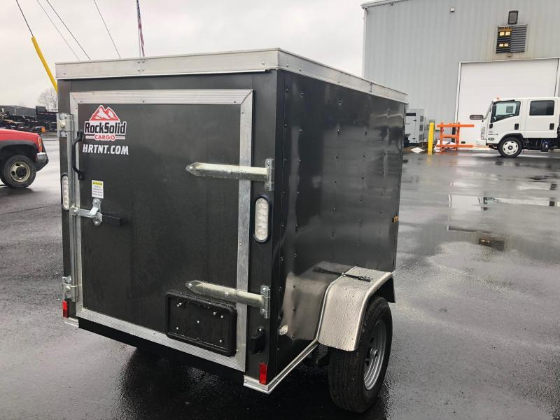 ROCK SOLID 2019 4' x 6' SINGLE AXLE CHARCOAL GRAY ENCLOSED TRAILER