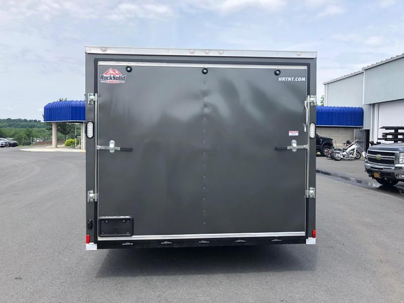 ROCK SOLID 8.5 x 20 Tandem Axle Charcoal Semi Screwless Enclosed V-NOSE Trailer