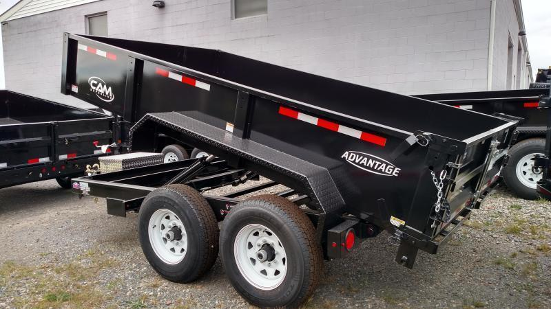 CAM ADVANTAGE 2019 6' x 12' LOW PROFILE HEAVY DUTY DUMP TRAILER (12-6812LPHDT)