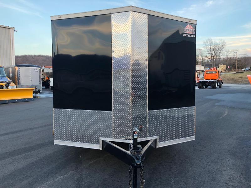ROCK SOLID 8.5 x 20 Tandem Axle Semi-Screwless Enclosed Black V-NOSE Trailer