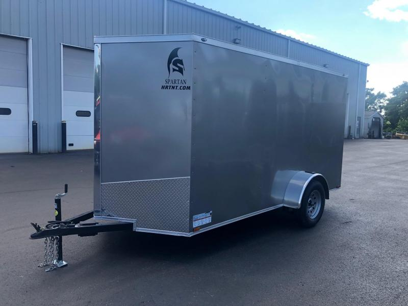 SPARTAN CARGO 2020  6X12 SINGLE AXLE PEWTER SEMI SCREWLESS ENCLOSED TRAILER