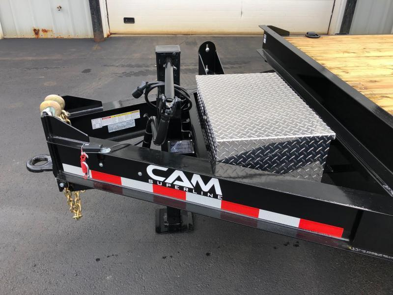 CAM 2020 6-TON 8.5' X 20' STANDARD DUTY DECKOVER EQUIPMENT TRAILER