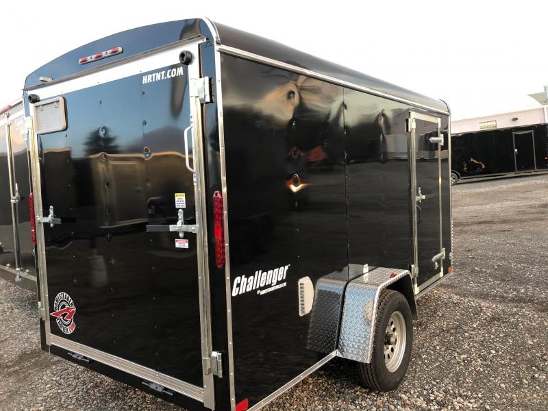 "HOMESTEADER 2019 6' x 12' BLACK CHALLENGER ENCLOSED TRAILER WITH 6"" EXTRA HEIGHT"