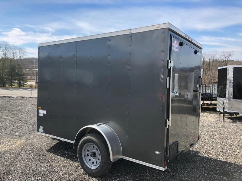 ROCK SOLID 2018 6' x 10' SINGLE AXLE CHARCOAL GRAY ENCLOSED TRAILER