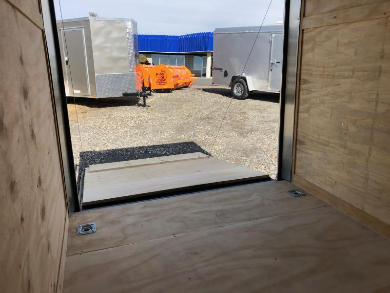 ROCK SOLID 2019 6' x 10' SINGLE AXLE CHARCOAL GRAY ENCLOSED TRAILER