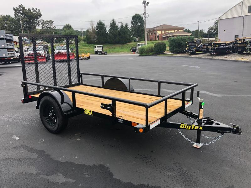 BIGTEX 2020 30SA SINGLE AXLE 5' x 10' LANDSCAPE / UTILITY TRAILER