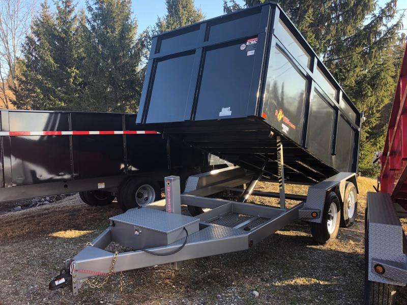 BWISE 2018 6' X 12' LOW PROFILE DUMP TRAILER BLACK WITH HAMMERTONE