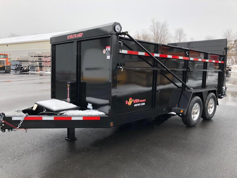 BWISE 2018 DU16-15 7' x 16' BLACK ULTIMATE DUMP LOW PROFILE TRAILER