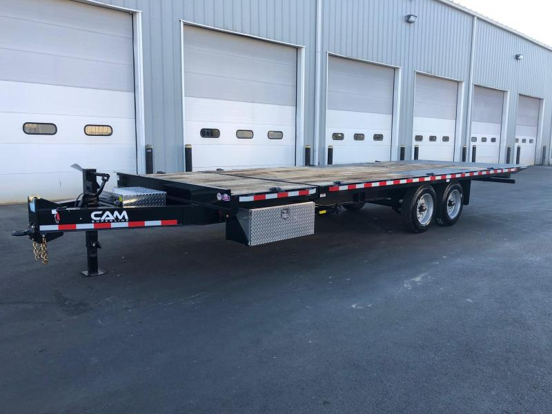 CAM SUPERLINE 2019 8.5 X 24 DECKOVER EQUIPMENT TRAILER