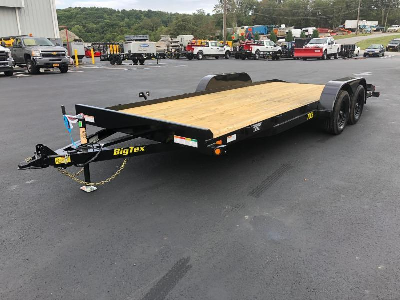 BIGTEX 2019 70CH 7' x 20' TANDEM AXLE CAR HAULER / EQUIPMENT TRAILER