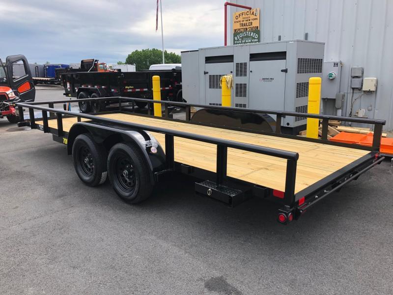 BIGTEX 2019 70PI 7' x 18' Tandem Axle Pipe Utility Trailer'