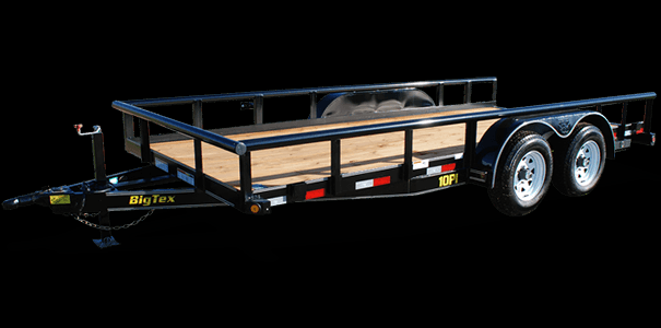 2019 Big Tex 7 x 20' Pro Series Tandem Axle Pipe Top Utility / Landscape Trailer