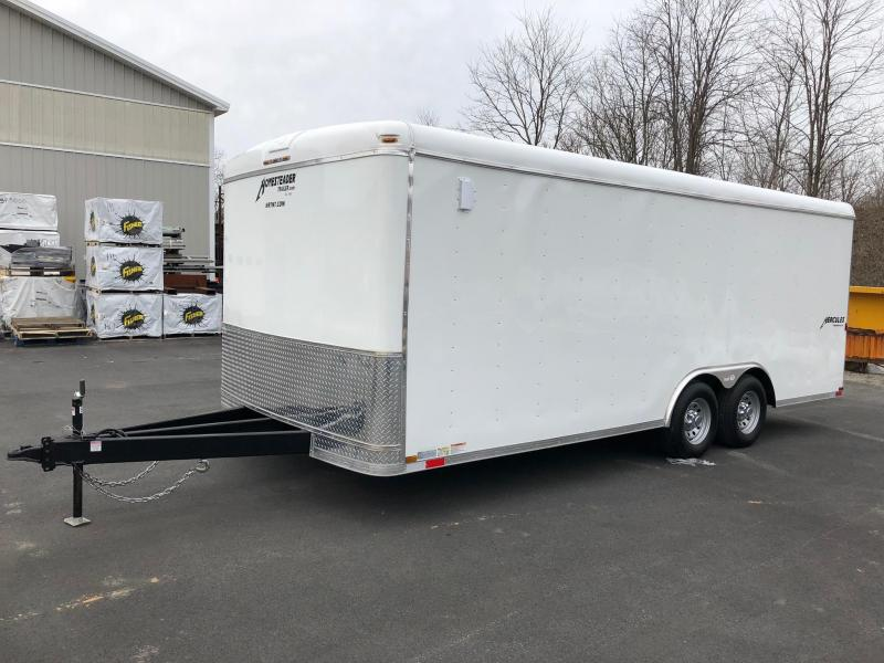 HOMESTEADER 2018 8.5' x 20' WHITE HERCULES ENCLOSED TRAILER