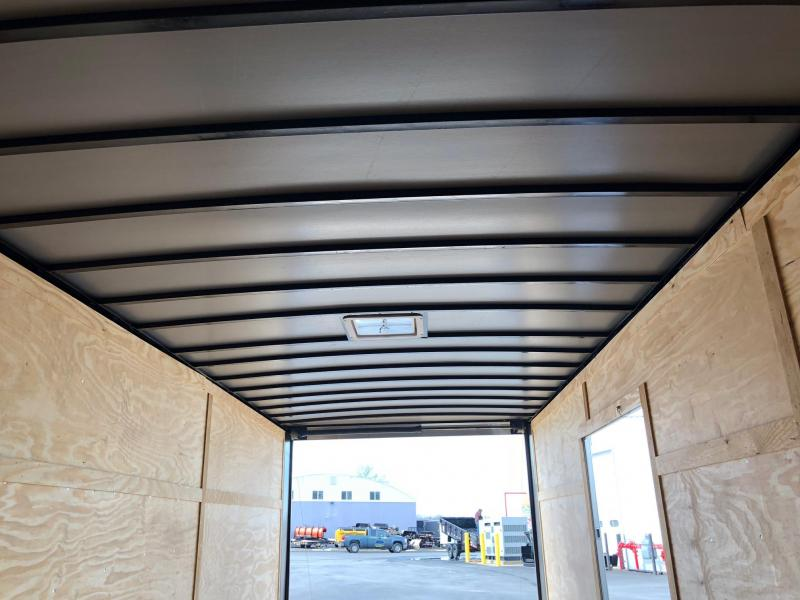 ROCK SOLID 2018 8.5' x 24' TANDEM AXLE CHARCOAL GRAY V-NOSE CARGO TRAILER