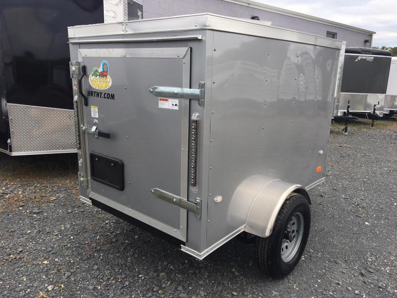 COVERED WAGON 2019 SILVER 4' x 6' ENCLOSED CARGO TRAILER