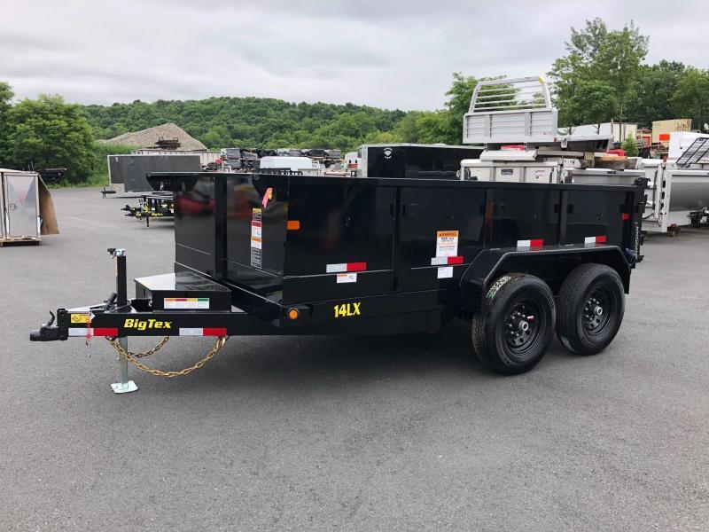 BIGTEX 2019 14LX-12 (7' x 12') BLACK HEAVY DUTY TANDEM EXTRA WIDE DUMP TRAILER