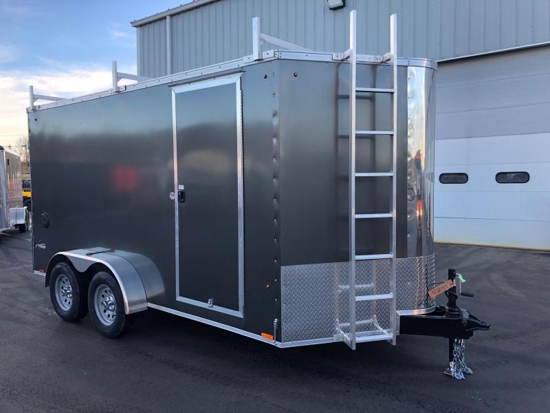 2019 Look 7x14' Element Tandem Axle Screwless Charcoal Gray Enclosed Cargo Trailer w/Ladder Racks