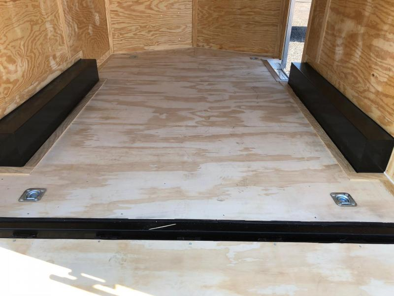 ROCK SOLID 2019 8.5' X 12' WHITE TANDEM AXLE V-NOSE ENCLOSED TRAILER